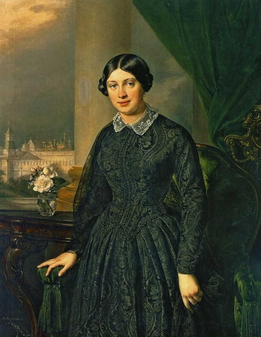 Portrait of Levitskaya Volkonskaya - Vasily Tropinin