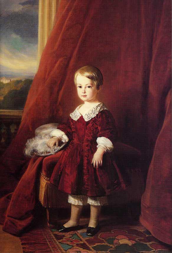 Portrait of Louis d'Orleans - Franz Xaver Winterhalter