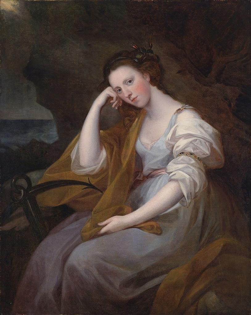Portrait of Louisa Leveson Gower as Spes (Goddess of Hope)  - Angelica Kauffman