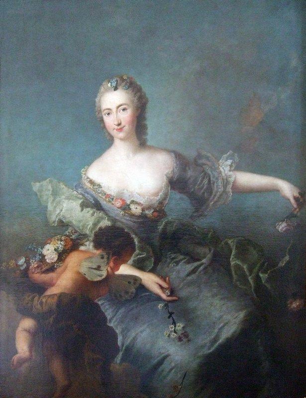 Portrait of Louise Albertine von Grappendorf as Flora - Antoine Pesne
