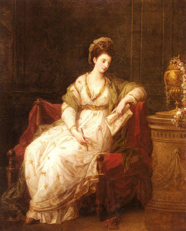 Portrait of Louise Henrietta Campbell - Angelica Kauffman