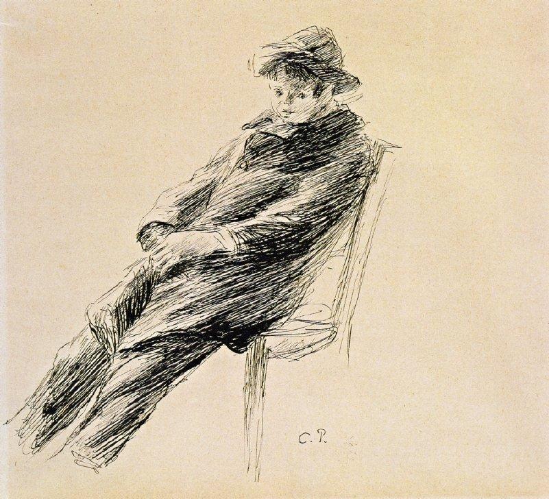 Portrait of Ludovic Rodo Pissarro - Camille Pissarro