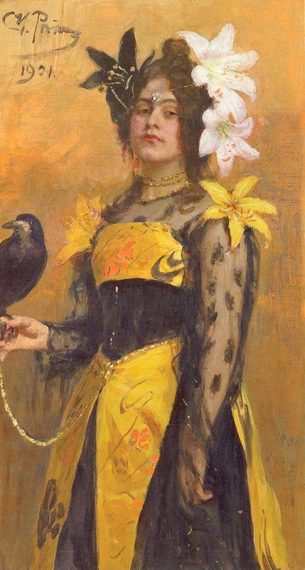 Portrait of Lydia Kuznetsova - Ilya Repin
