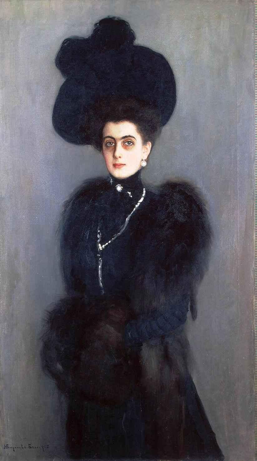 Portrait of M.Ambelek-Lazareva - Nikolay Bogdanov-Belsky