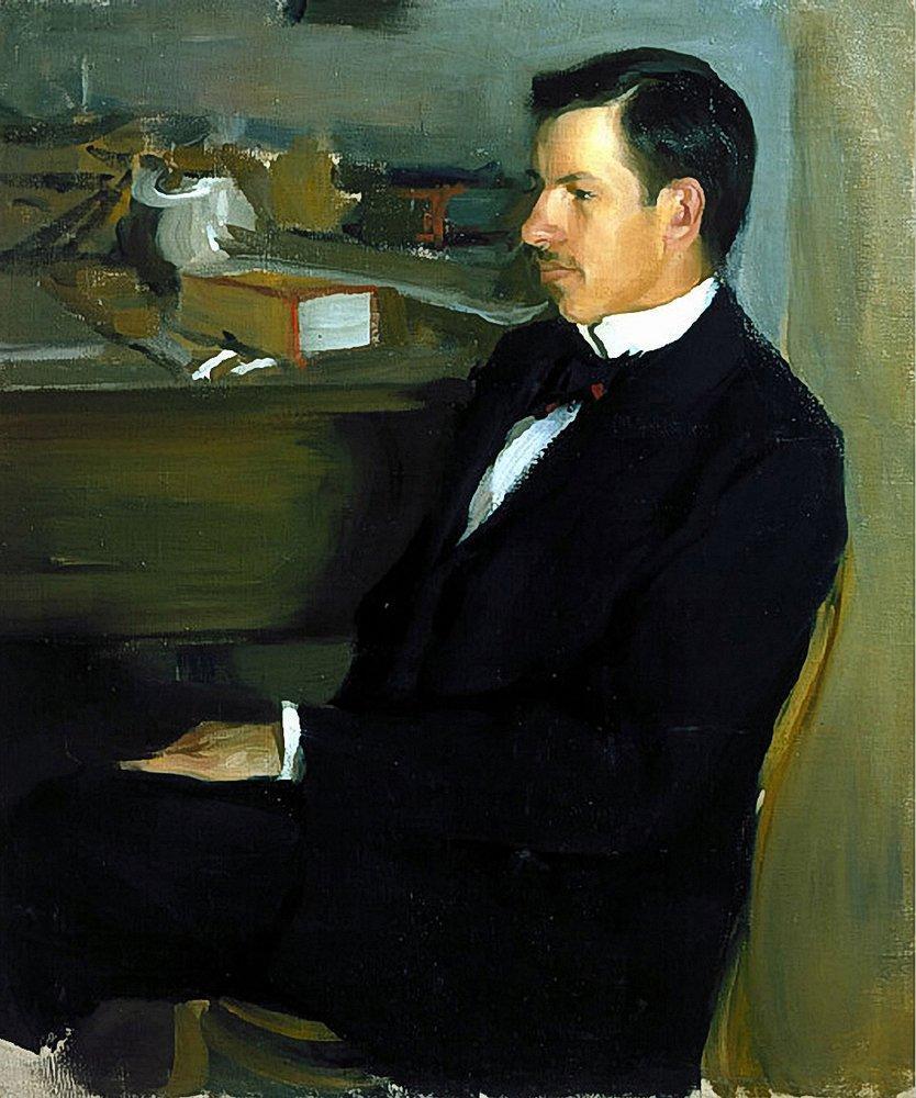 Portrait of M.I. Heylik  - Boris Kustodiev