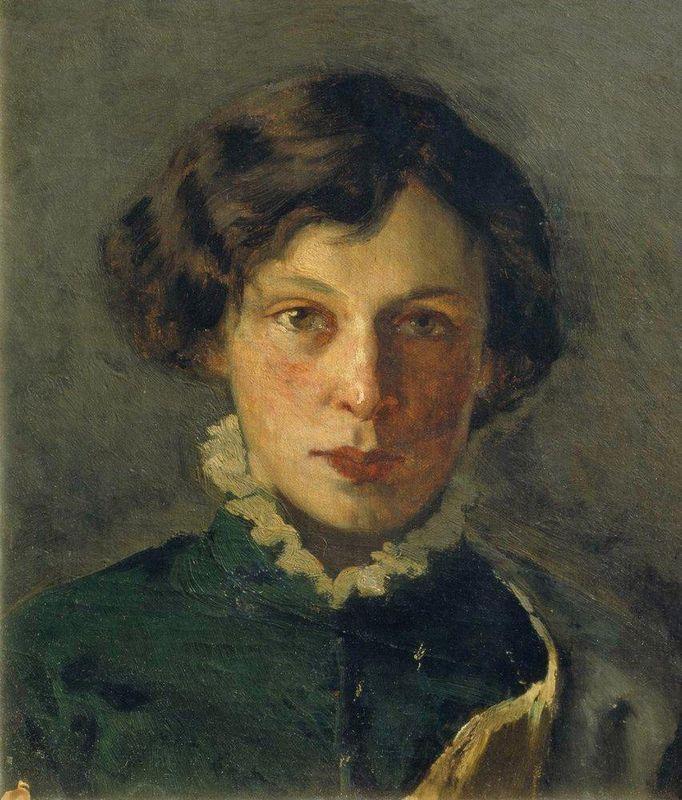 Portrait of M. Nesterova, the first wife of the artist - Mikhail Nesterov