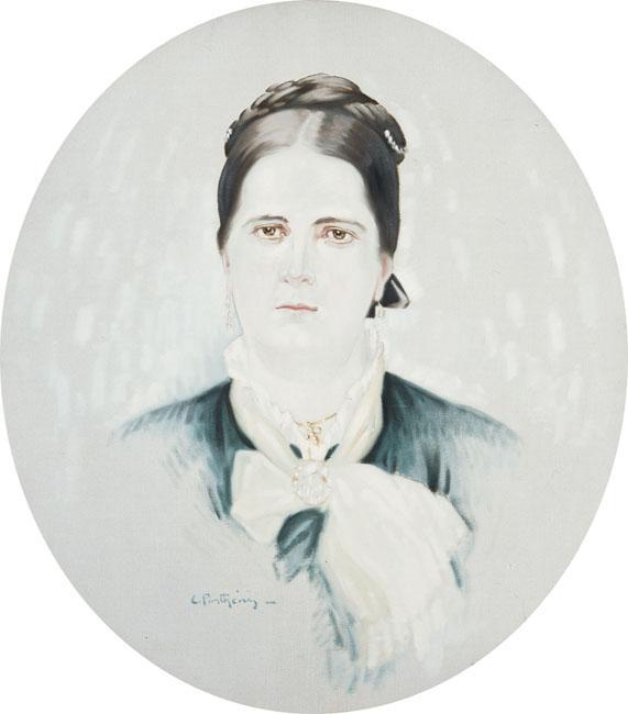 Portrait of M. P Papathanasiou - Konstantinos Parthenis