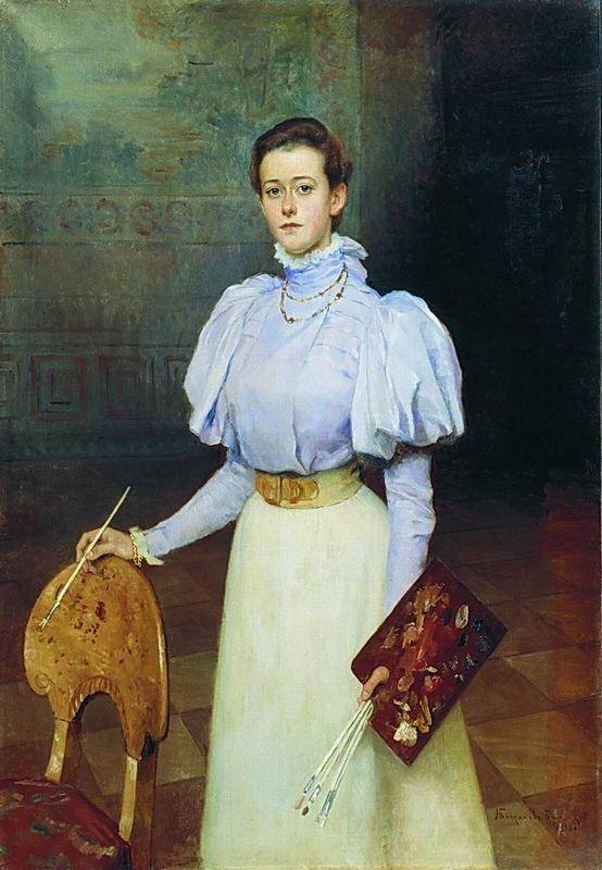Portrait of M.Sheremetova - Nikolay Bogdanov-Belsky