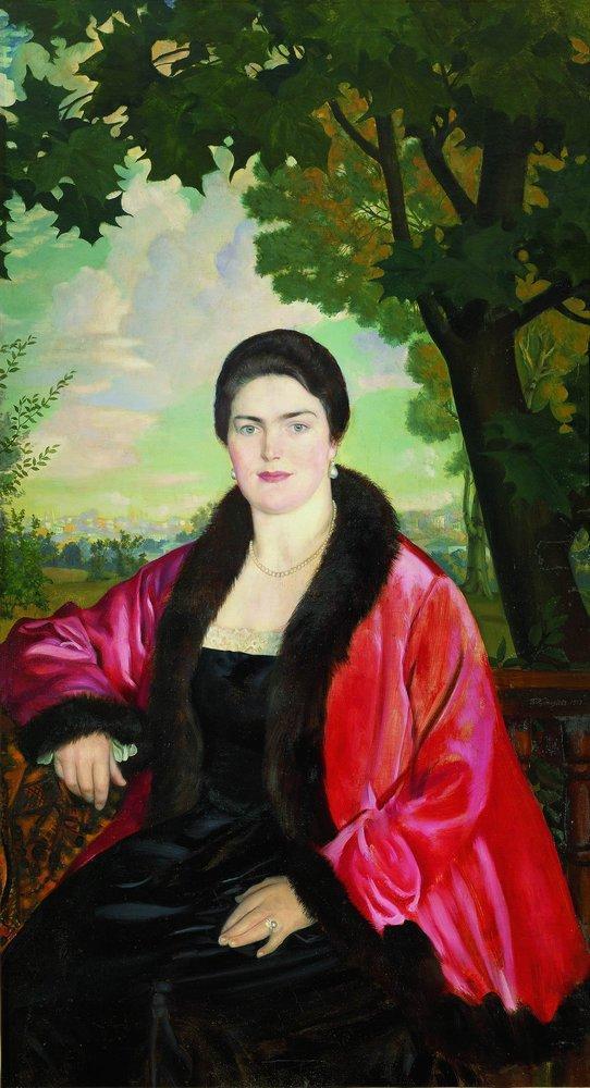 Portrait of M.V. Chaliapina - Boris Kustodiev