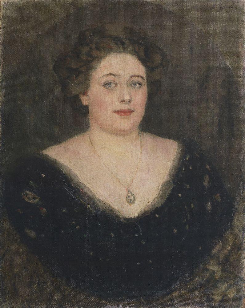 Portrait of M. Velichkina, nee Baroness von Klodt Yurgensburg - Vasily Surikov