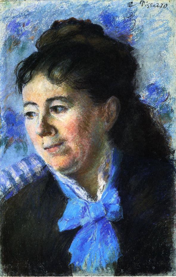 Portrait of Madame Felicie Vellay Estruc - Camille Pissarro