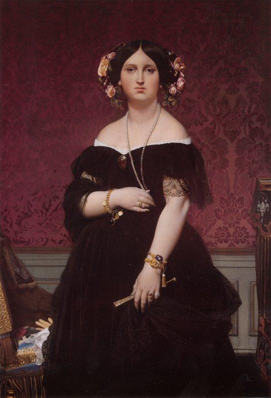 Portrait of Madame Moitessier Standing - Jean Auguste Dominique Ingres