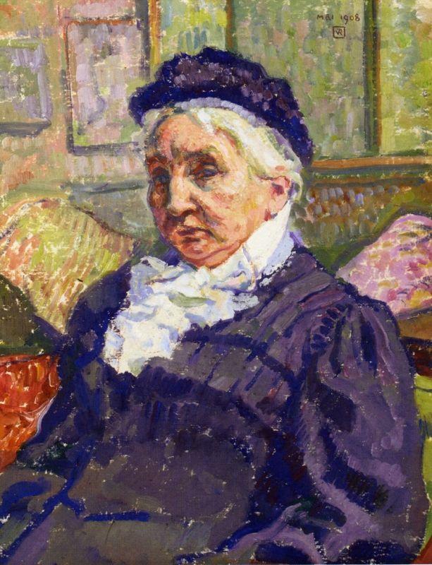 Portrait of Madame Monnon - Theo van Rysselberghe
