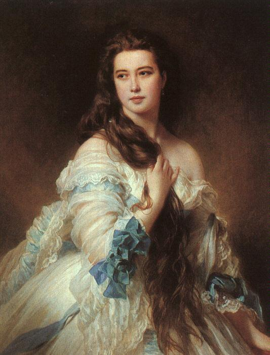 Portrait of Madame Rimsky-Korsakov, Varvara Dmitrievna Mergassov - Franz Xaver Winterhalter