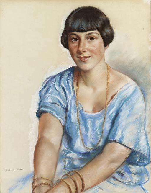 Portrait of Madame V. - Zinaida Serebriakova