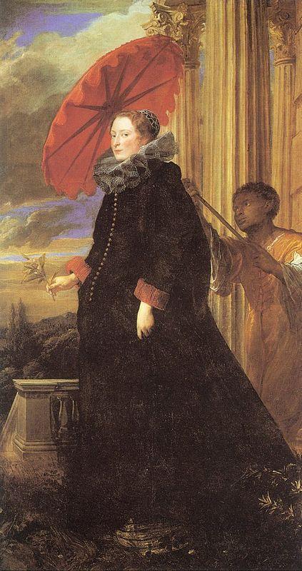 Portrait of Marchesa Elena Grimaldi, wife of Marchese Nicola Cattaneo - Anthony van Dyck