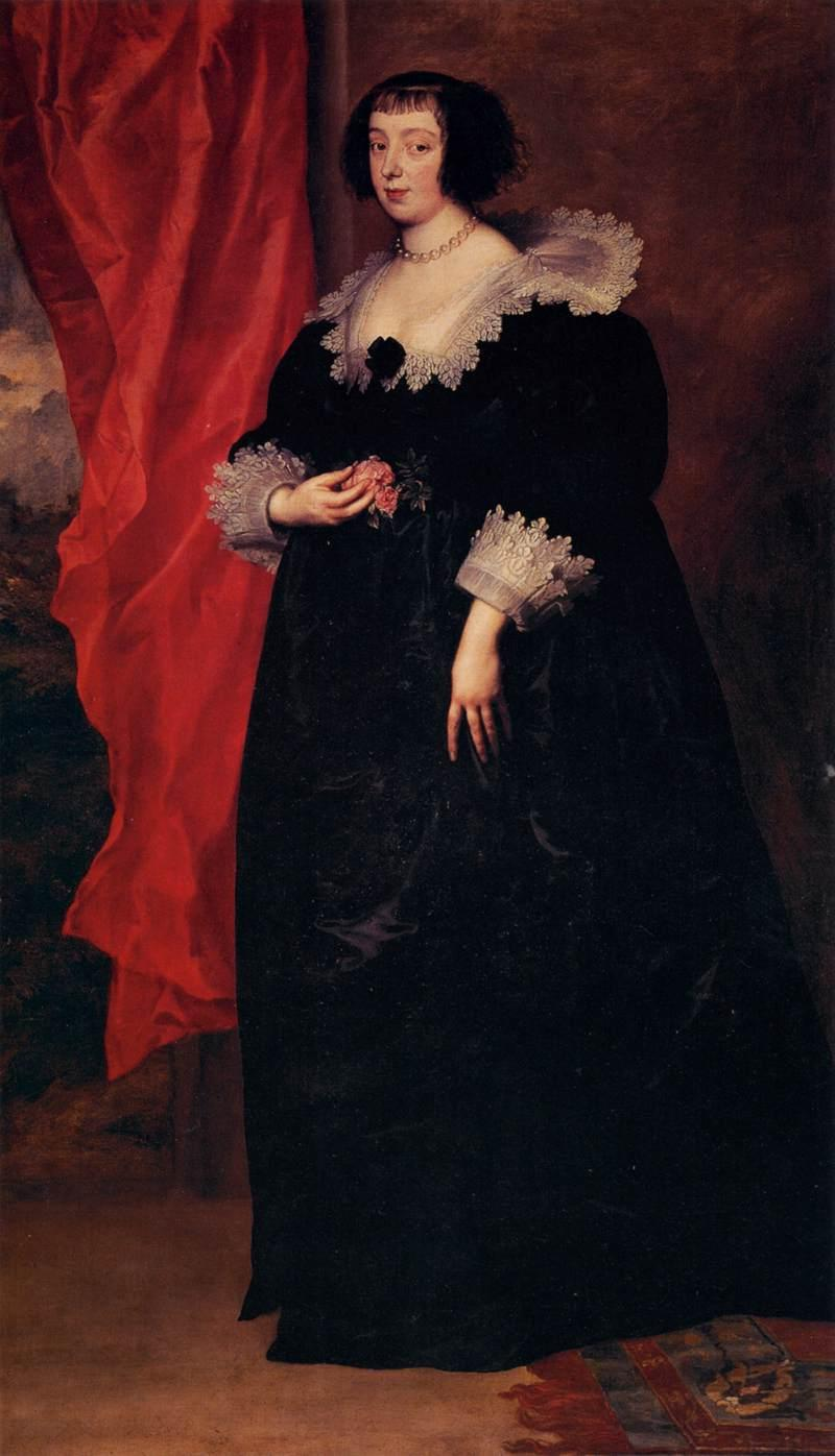 Portrait of Marguerite of Lorraine, Duchess of Orleans - Anthony van Dyck