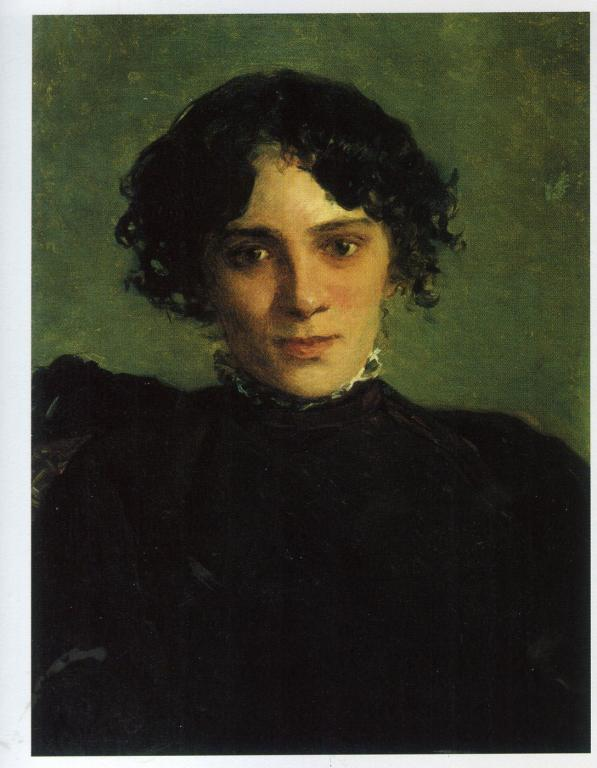 Portrait of Maria Gabayeva - Nikolai Ge