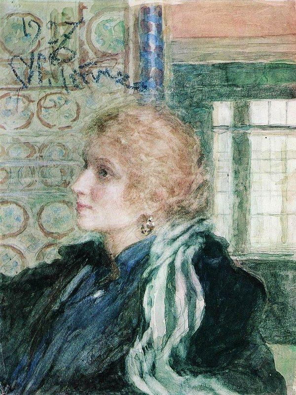 Portrait of Maria Klopushina - Ilya Repin