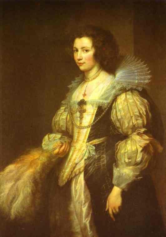Portrait of Maria Louisa de Tassis - Anthony van Dyck