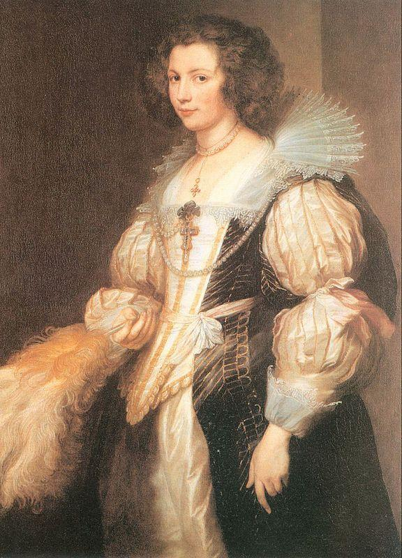 Portrait of Maria Lugia de Tassis - Anthony van Dyck