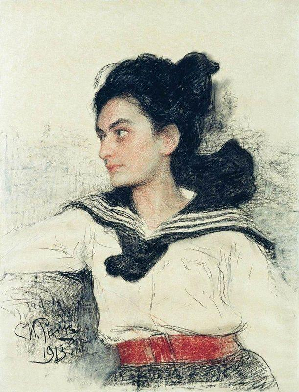 Portrait of Maria Osipovna Lowenfeld - Ilya Repin