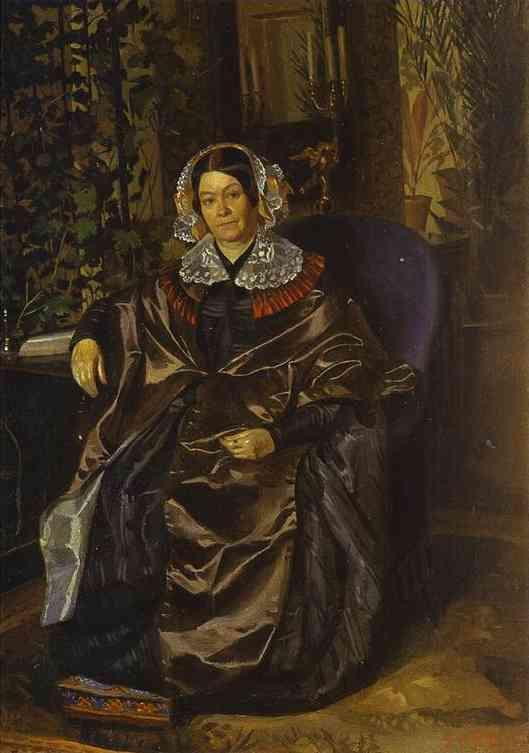 Portrait of Maria Pavlovna Druzhinina  - Pavel Fedotov
