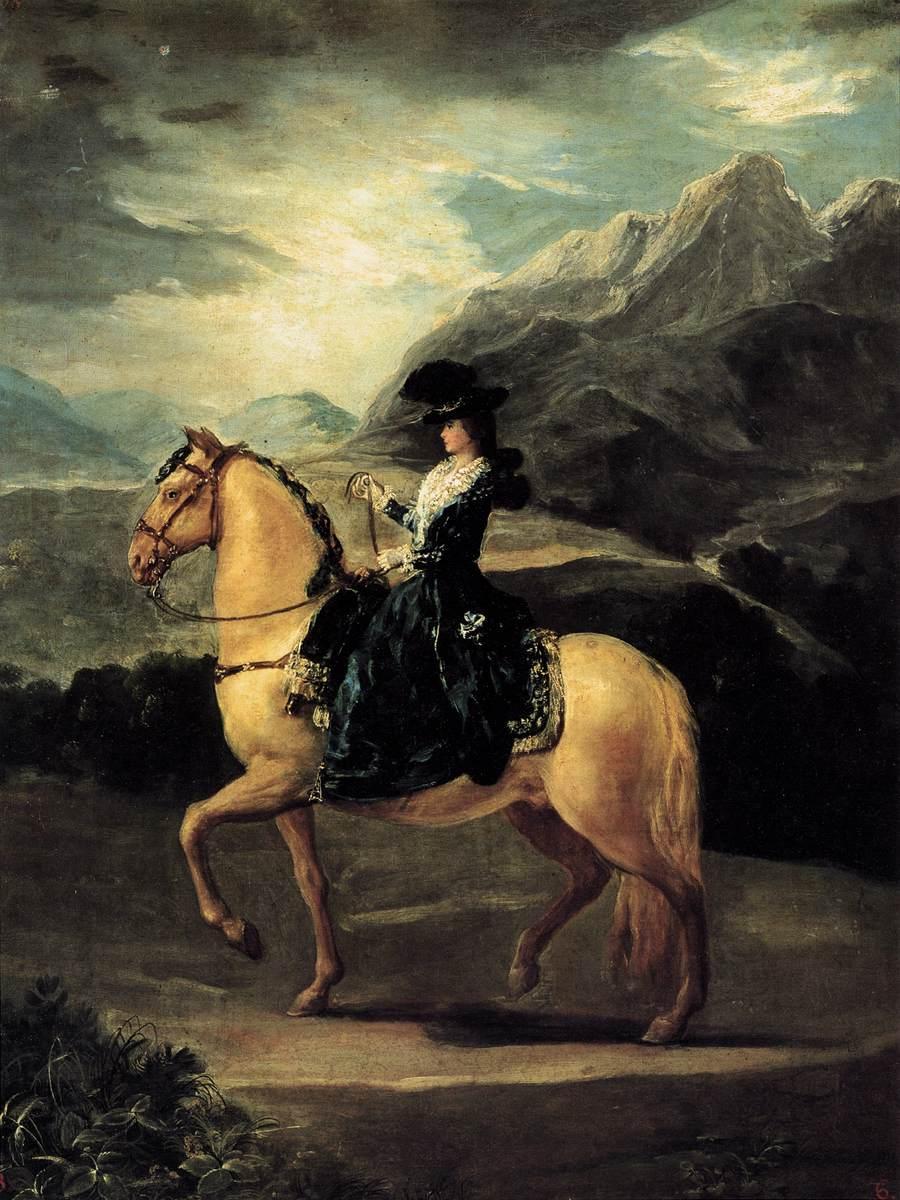 Portrait of Maria Teresa de Vallabriga on horseback - Francisco Goya