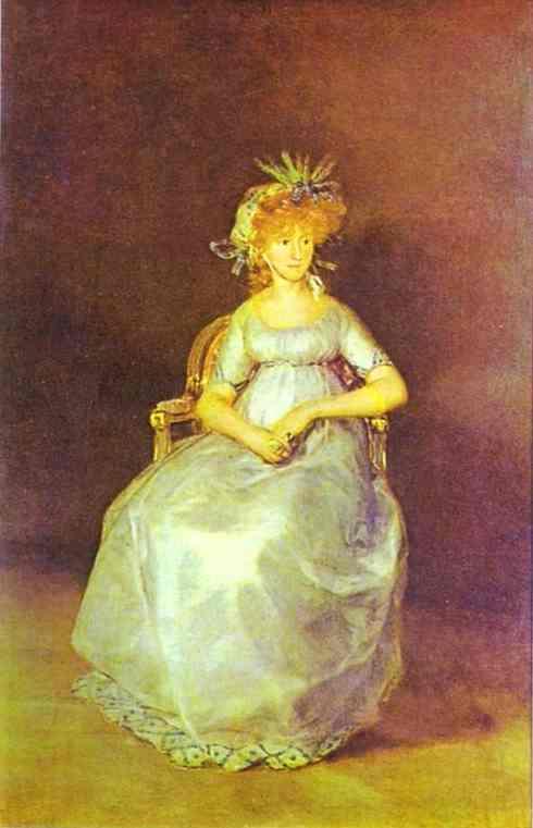 Portrait of Maria Teresa of Ballabriga, Countess of Chinchon - Francisco Goya