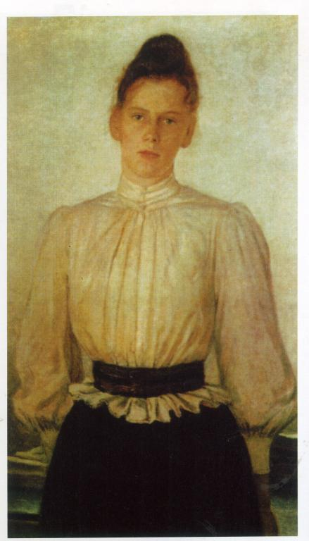 Portrait of Maria Tolstaya, Leo Tolstoy's Daughter - Nikolai Ge