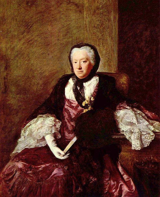 Portrait of Mary Atkins (Mrs. Martin) - Allan Ramsay