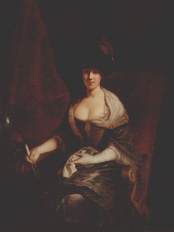 Portrait of Mary Susanne Dinglinger, born Gutermann - Antoine Pesne