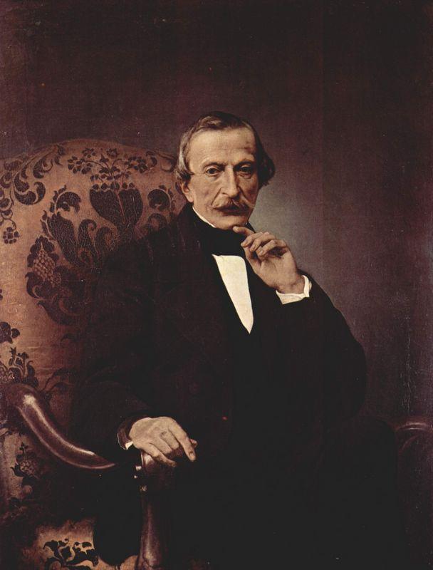 Portrait of Massimo d'Azeglio - Francesco Hayez