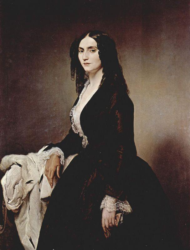 Portrait of Matilde Juva Branca - Francesco Hayez