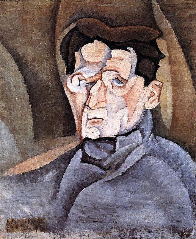 Portrait of Maurice Raynal - Juan Gris
