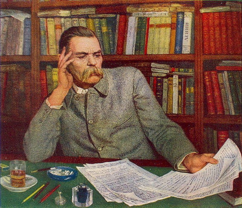 Portrait of Maxim Gorky - Nikolay Bogdanov-Belsky