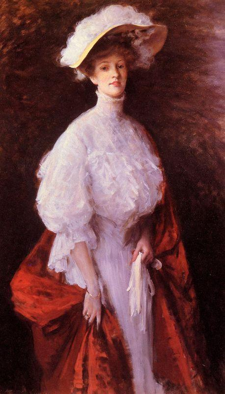 Portrait of Miss Frances - William Merritt Chase