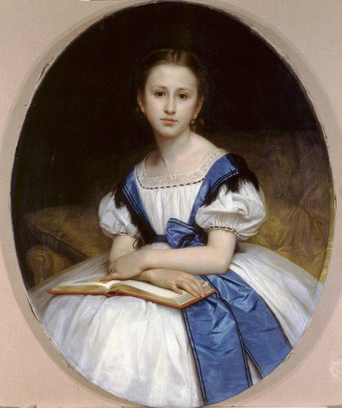 Portrait of Mlle Brissac - William-Adolphe Bouguereau