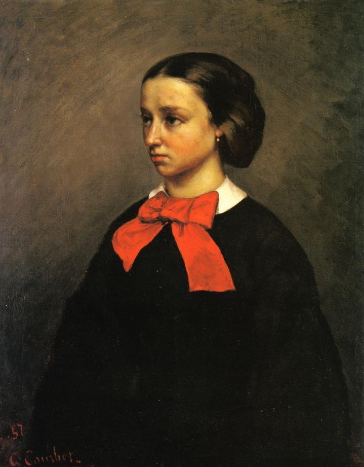 Portrait of Mlle. Jacquet - Gustave Courbet