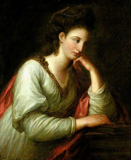 Portrait of Mme Latouce - Angelica Kauffman