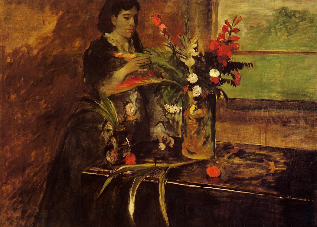 Portrait of Mme. Rene De Gas, born Estelle Musson - Edgar Degas
