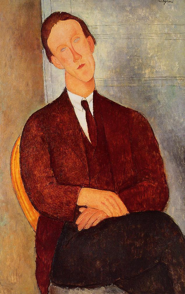 Portrait of Morgan Russell - Amedeo Modigliani