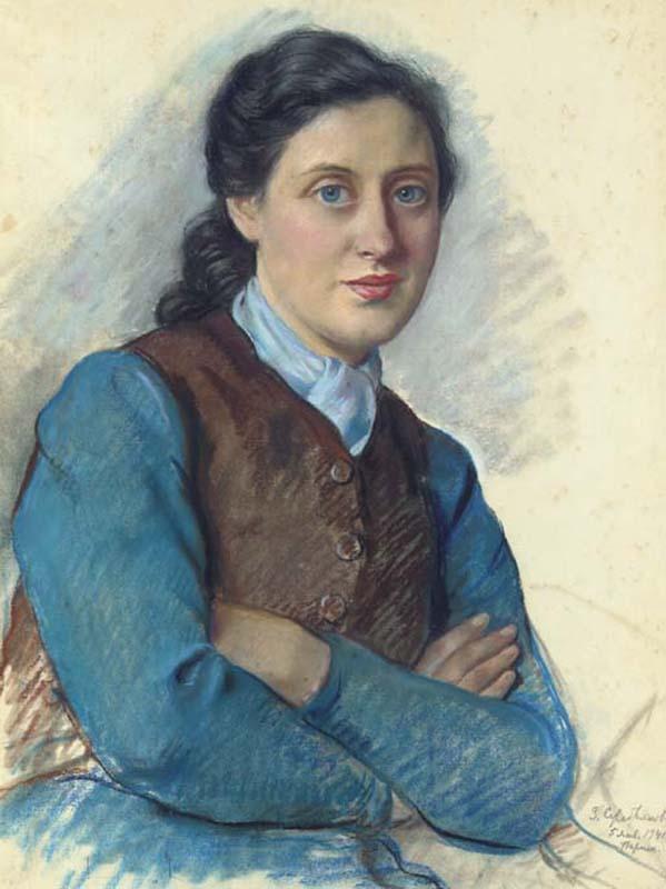 Portrait of Mrs Beilitz - Zinaida Serebriakova
