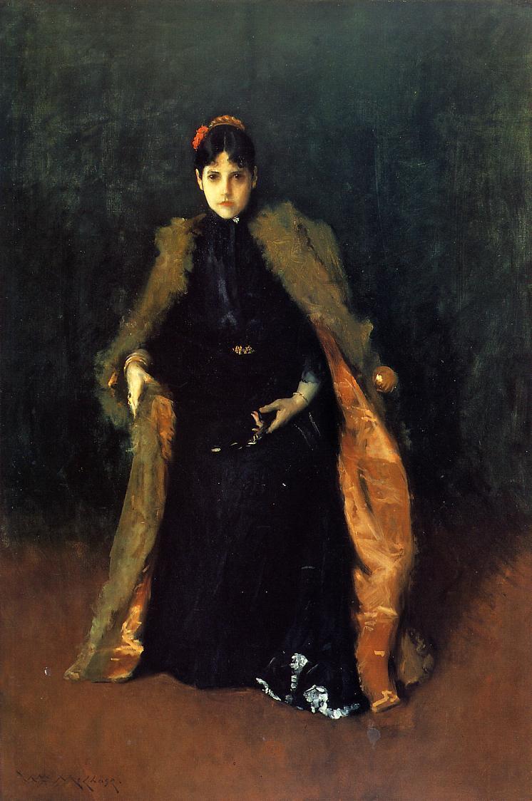 Portrait of Mrs.C. (Alice Gerson Chase) - William Merritt Chase