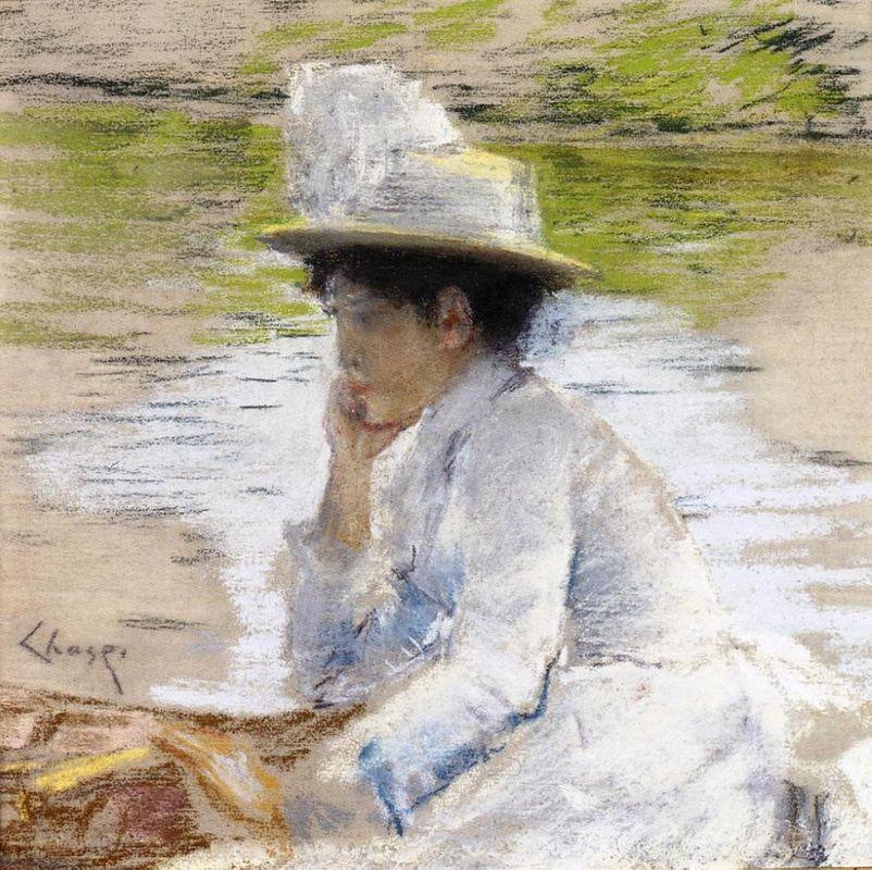 Portrait of Mrs. Chase - William Merritt Chase