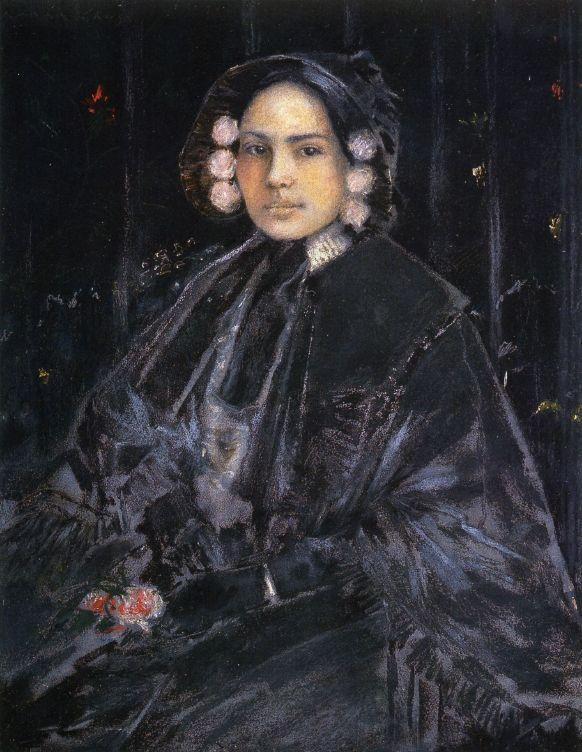 Portrait of Mrs. Julius Erson - William Merritt Chase