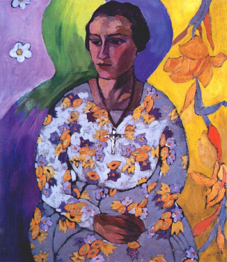 Portrait of N. Svendonskaya - Aristarkh Lentulov