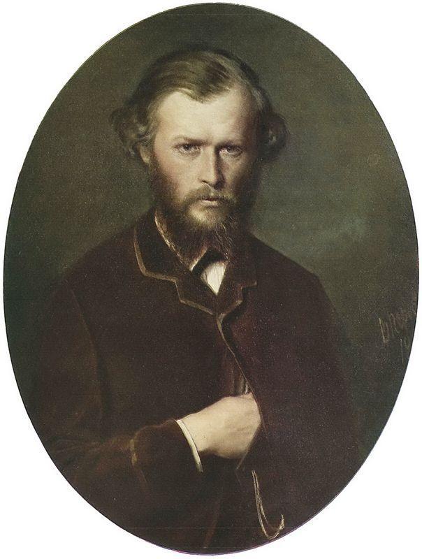 Portrait of Nikolai Lanin - Vasily Perov