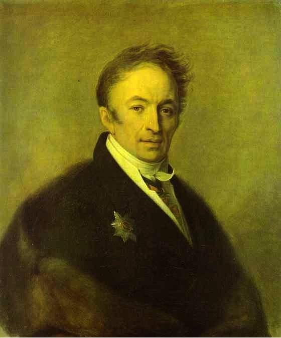 Portrait of Nikolay Karamzin - Alexey Venetsianov