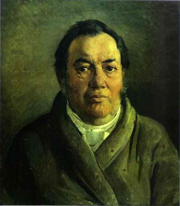Portrait of Nikolay O.Ge, Artist's Father - Nikolai Ge